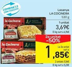 Oferta de Lasaña La Cocinera por 3.69€