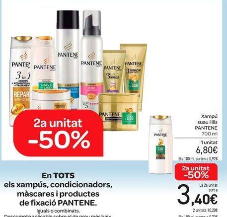 Oferta de En TODOS los champús, acondicionadores, mascarillas y productos de fijación PANTENE por 6.8€