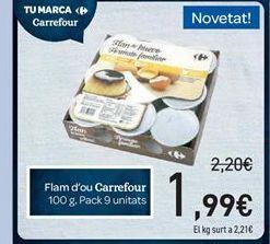 Oferta de Flan de huevo Carrefour por 1.99€