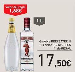 Oferta de Ginebra Beefeater + tónica schweppes por 17.5€
