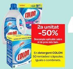 Oferta de En detergente COLÓN y cápsulas por