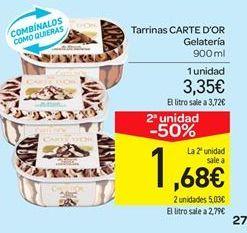 Oferta de Tarrina de helado Carte d'Or por 3.35€