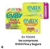 Oferta de En TODAS las compresas EVAX Fina y Segura por