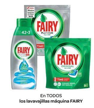 Oferta de En TODOS los lavavajillas máquina FAIRY por