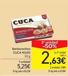Oferta de Berberechos Cuca por 5.25€