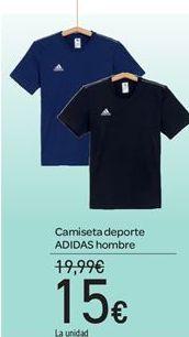Oferta de Camiseta deporte ADIDAS hombre por 15€