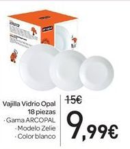 Oferta de Vajilla vidrio opal por 9.99€