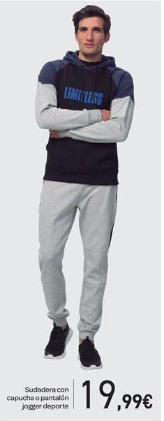 Oferta de Sudadera con capucha o pantalón jogger deporte por 19.99€