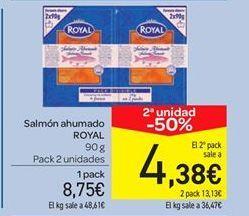 Oferta de Salmón ahumado Royal por 8.75€