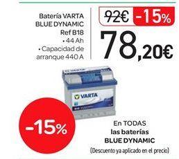 Oferta de En TODAS las baterias BLUE DYNAMIC por 78.2€
