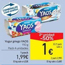 Oferta de Yogur griego YAOS por 1.99€