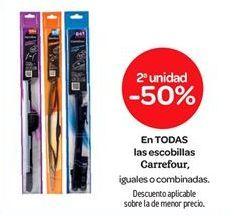 Oferta de En TODAS las escobillas Carrefour por