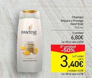 Oferta de Champú Repara y Protege PANTENE por 6.8€