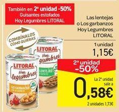 Oferta de Lentejas o garbanzos por 1.15€