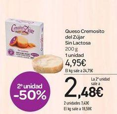 Oferta de Queso Cremosito del Zújar Sin Lactosa por 4.95€