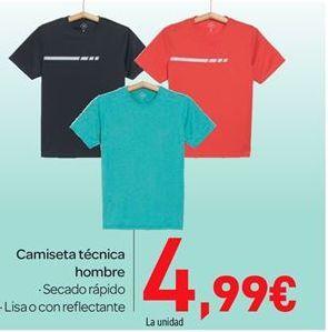Oferta de Camiseta técnica hombre por 4.99€