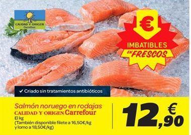 Oferta de Salmón noruego en rodajas Carrefour por 12.9€