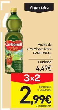 Oferta de Aceite de oliva virgen extra Carbonell por 4.49€