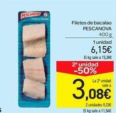 Oferta de Filetes de bacalao Pescanova por 6.15€