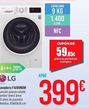 Oferta de Lavadora F4J6VN0W por 399€