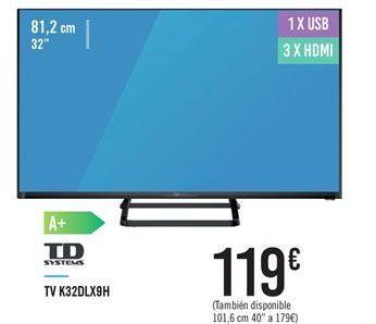 Oferta de TV K32DLX9H por 119€