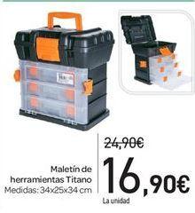 Oferta de Maletín de herramientas titano por 16.9€