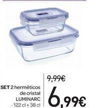 Oferta de SET 2  herméticos de cristal por 6.99€