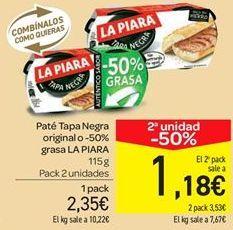 Oferta de Paté tapa negra original o 50% grasa  por 2.35€