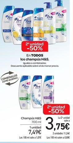 Oferta de Champú H&S por 7.49€
