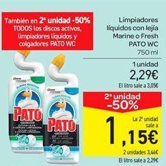 Oferta de Limpiadores líquidoscon lejía Marine o Fresh PATO WC por 2.29€