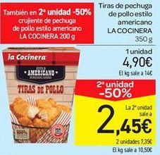 Oferta de Tiras de pechuga de pollo estilo americano por 4.9€