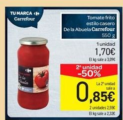 Oferta de Tomate frito estilo casero de la abuela Carrefour por 1.7€