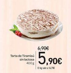 Oferta de Tarta de Tiramisú sin lactosa por 5.9€