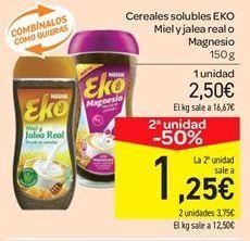 Oferta de Cereales solubles EKO Miel y jalea real o Magnesio por 2.5€