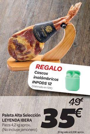 Oferta de Paleta Alta Selección  LEYENDA IBERA por 35€