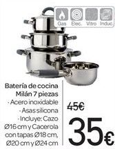 Oferta de Bateria de cocina Milán 7 piezas por 35€