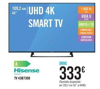 Oferta de TV 43B7300 por 333€