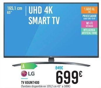 Oferta de TV 65UM7400 por 699€