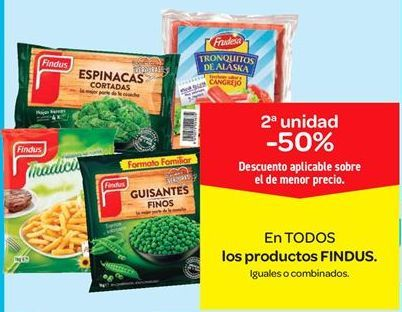 Oferta de En TODOS los productos FINDUS por