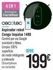 Oferta de Aspirador robot Conga Impulse 1490 por 199€