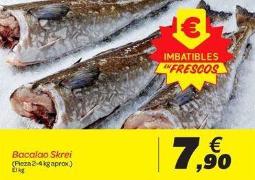 Oferta de Bacalao Skrei por 7.9€