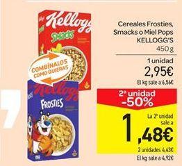 Oferta de Cereales Frosties, Smacks o Miel Pops KELLOGG'S por 2.95€