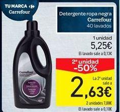 Oferta de Detergente ropa negra carrefour por 5.25€