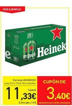 Oferta de Cerveza Heineken por 11.33€
