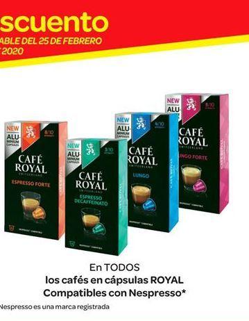 Oferta de Cápsulas de café Royal compatibles con Nespresso por