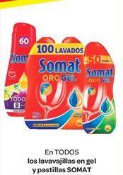 Oferta de En TODOS los lavavajillas en gel y pastillas SOMAT por