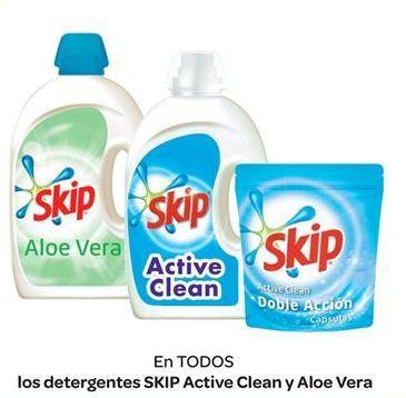 Oferta de En TODOSlos detergentes SKIP Active Clean y Aloe Vera por