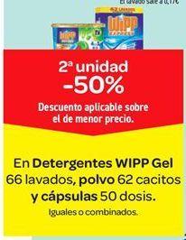 Oferta de En Detergente WiPP Gel, polvo y cápsulas  por
