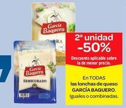 Oferta de En TODAS las lonchas de queso GARCÍA BAQUERO. por