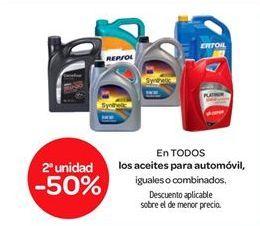 Oferta de En TODOS los aceites para automóvil por